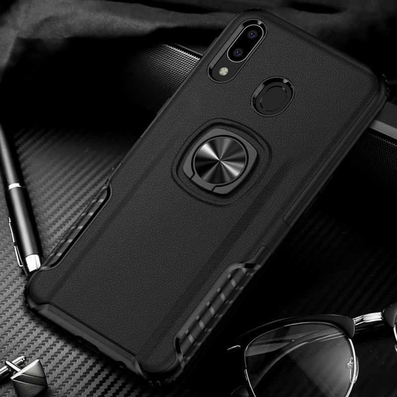 Toraise For Samsung M20 Case Metal Ring Car Stand Silicone Case For Samsung Galaxy M10 M30 M40 A6 Plus 2018 A80 J7 Neo A10 A20 E