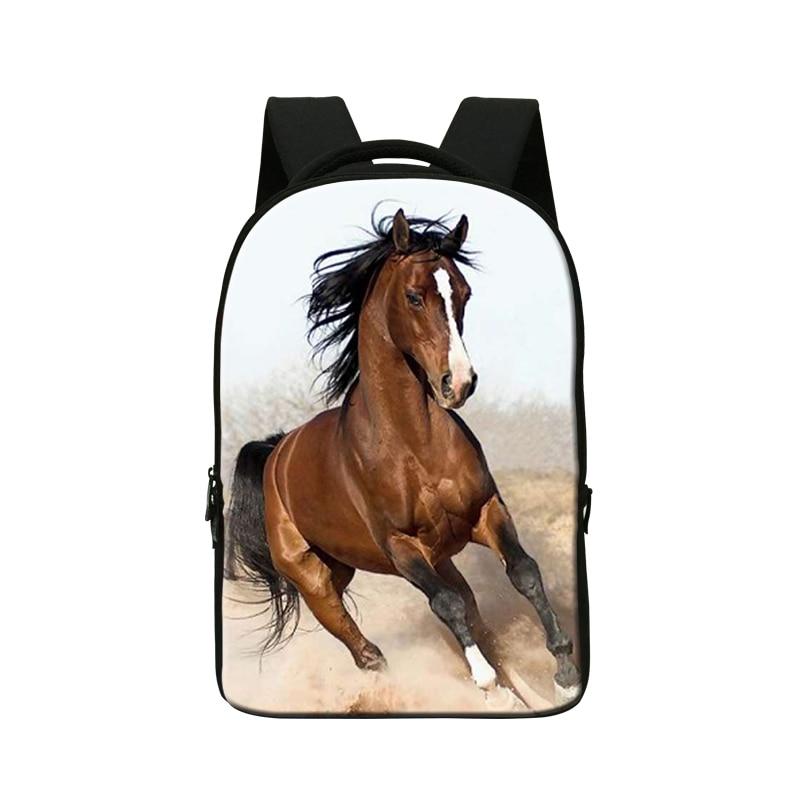 Plush Horse 3D Print Backpacks for College Students,Laptop Back Pack,Mens Computer Bag,Cool Bookbag for Boys,Day Packs mochila