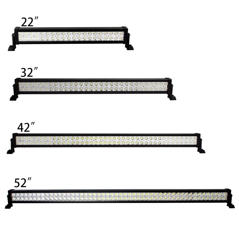 Prix pour Weketory 22 32 42 52 Pouce 120 W 180 W 240 W 300 W LED Light Bar pour Travail Conduite Bateau De Voiture Camion 4x4 SUV ATV Hors Route Brouillard Lampe