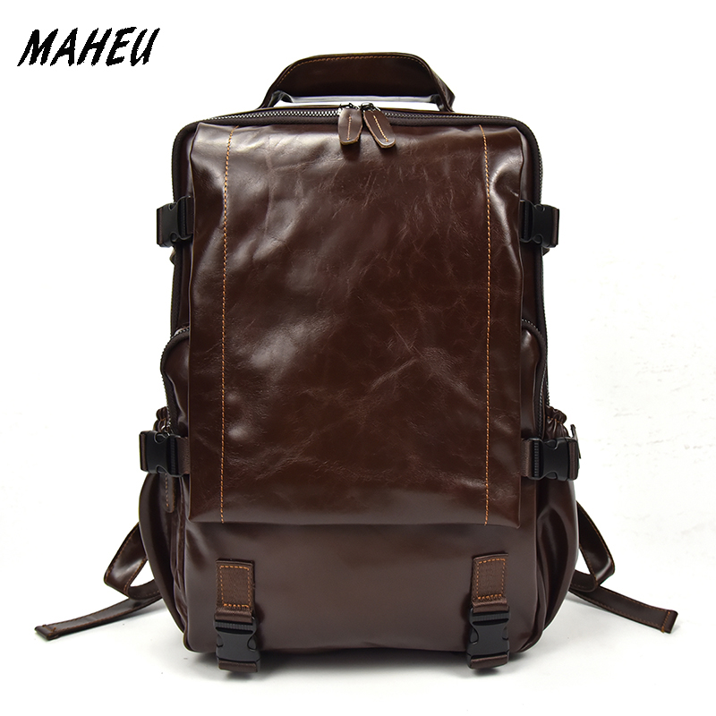 High Quality men Genuine Leather Backpack Women Real leather rucksack 14 PC Cowhide Travel Bags Casual school bag for laptop hot sale women s backpack the oil wax of cowhide leather backpack women casual gentlewoman small bags genuine leather school bag