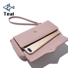 Women Wallets Purse Female Wallet Pu Leather Soft Long Chain Large Capacity Luxury Brands Clutch Bags