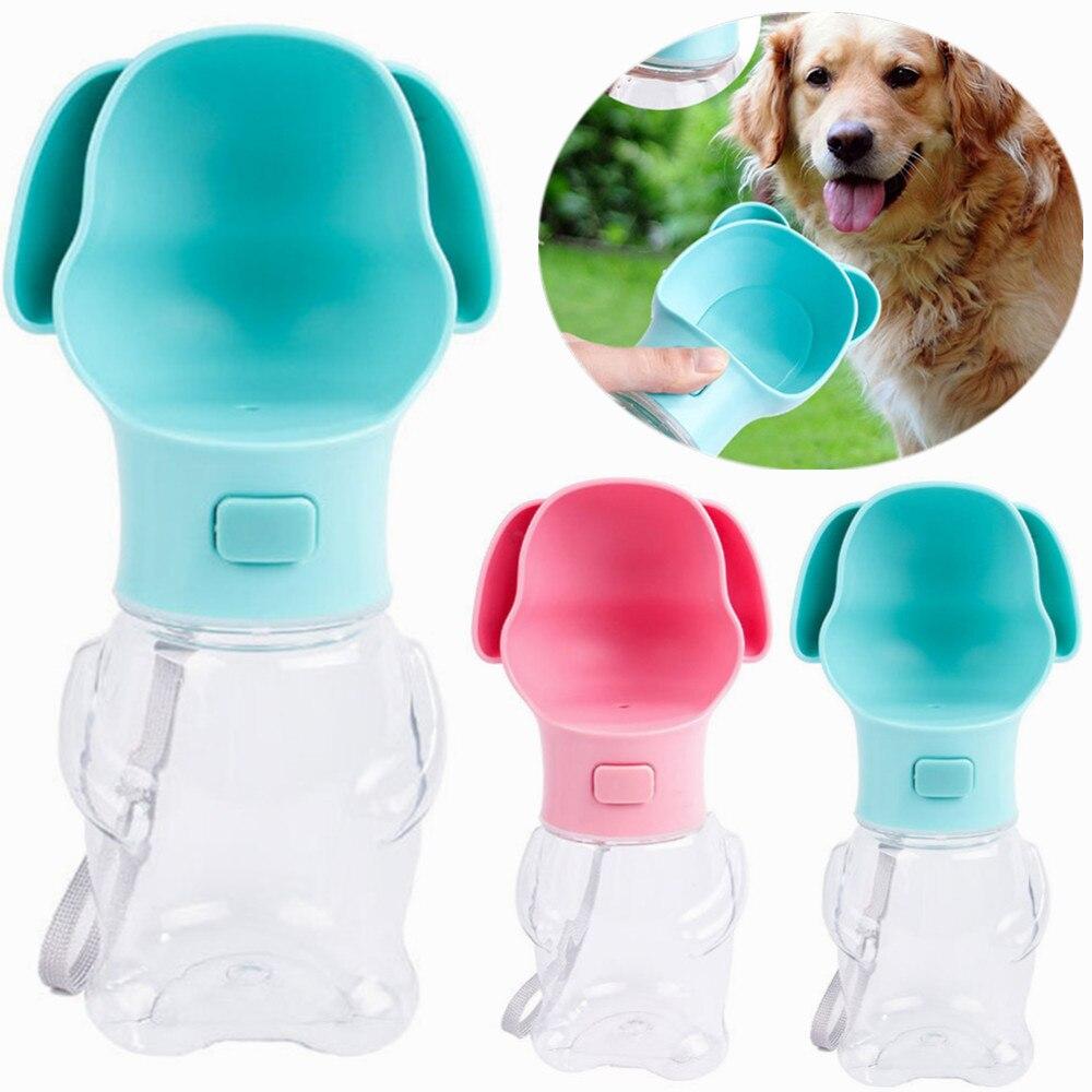 1pcs Dog Travel Water Bottle Dispenser Foldable Plastic Dog Cat Drinking Water Feeder Portable Outdoor font