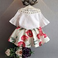 Newborn Infant Girls Kids Summer Fashion Suits Clothes Baby Tops+Simple Children Flower Skirts