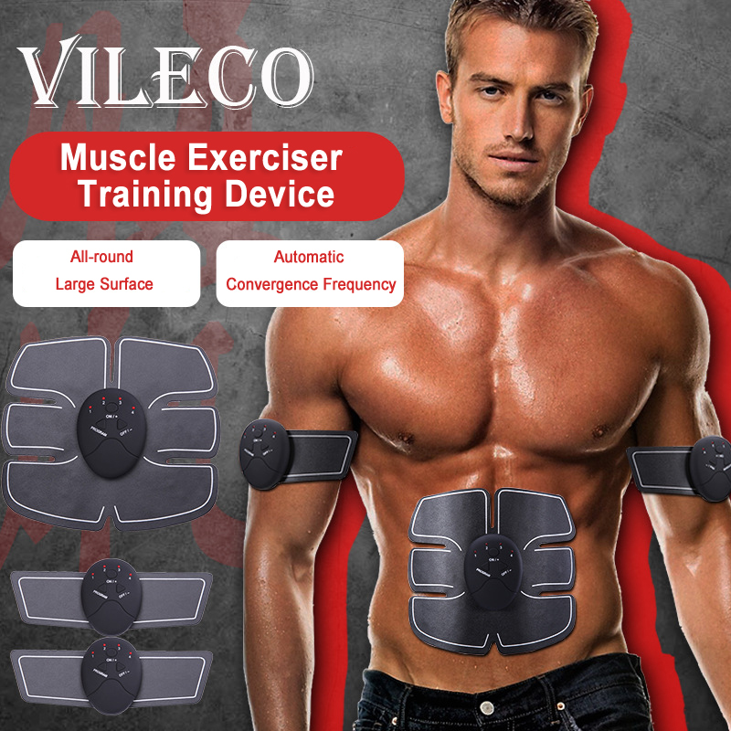 Wireless Muscle Stimulator Trainer Abdominal Body Slimming Massager Muscle