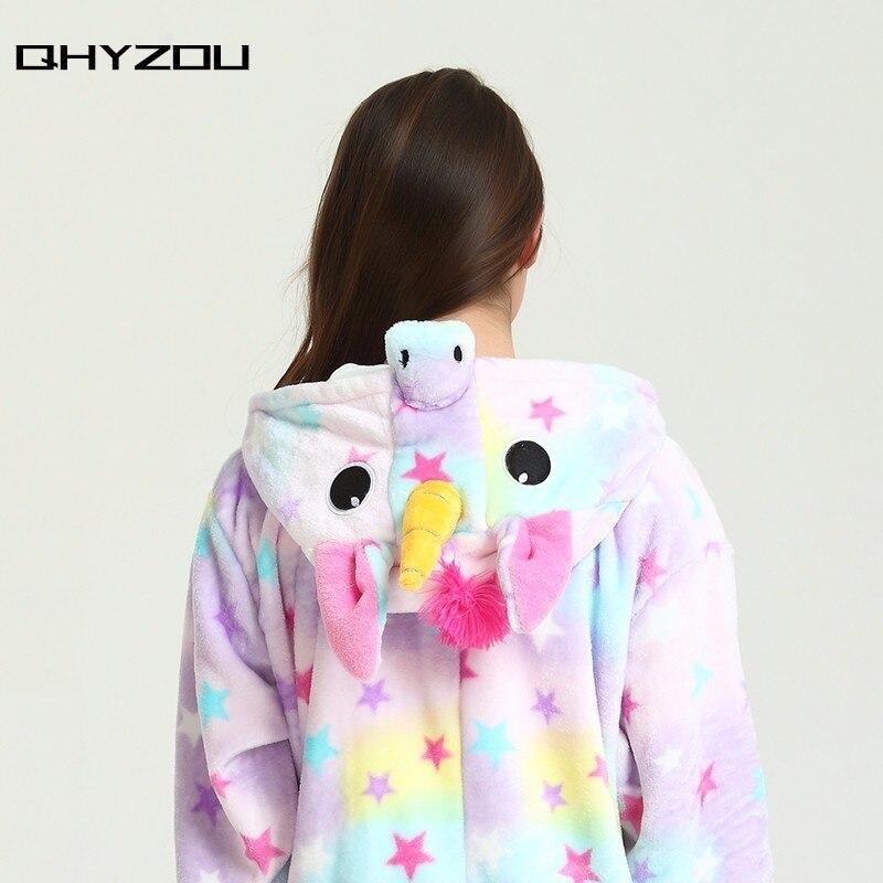 Star Print Unicorn Onesie women kigurumi pantufa de unicornio onsie pijamas jumpsuit disfraz nightgowns sleepshirts
