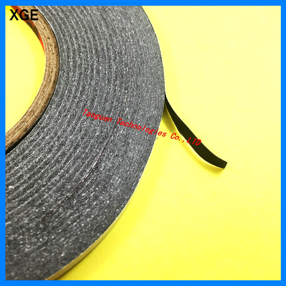 XGE 1 Roll 2mm Black Double Side Adhesive Sticker Tape For Ipad Air 4 3 2 Iphone 6s 6 7 5s Samsung LG Cellphone Screen LCD Fix