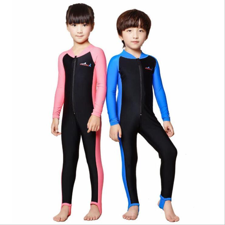 Дети / дети лайкра уф защита от солнца всего тела купальники стингер костюм прыжок костюм для мальчиков или девочек ...