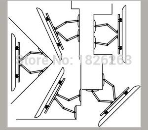 """Image 5 - 32 65"""" Heavy Duty Wall Corner LED LCD TV Mount Flexible Full Motion TV Swing Arm Bracket Ceiling Mount Load 100kgs EMP522MT"""