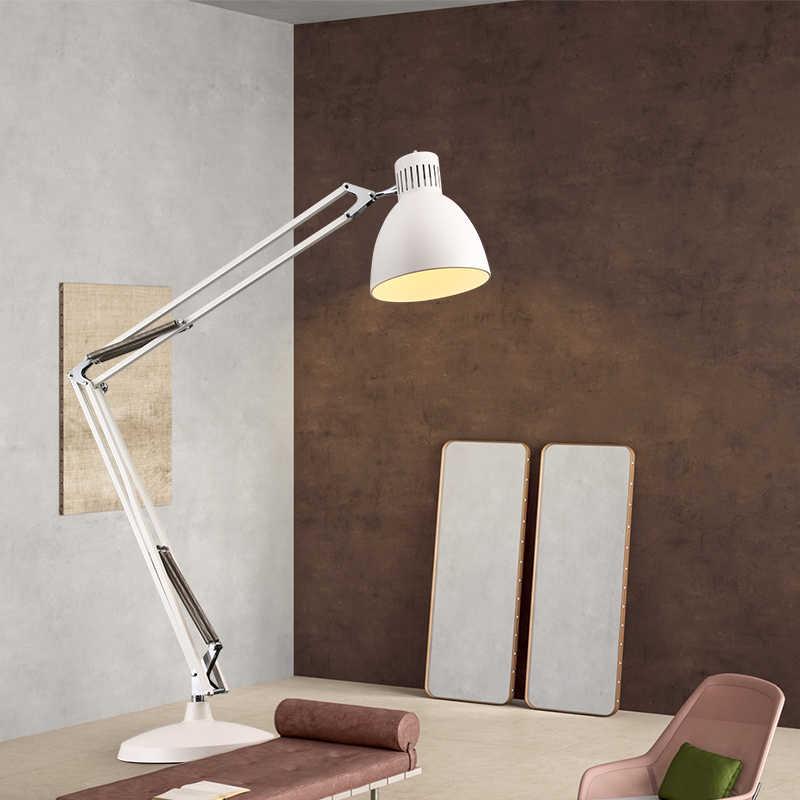 Скандинавские гигантские супер промышленные напольные светильники, креативный дизайн, Длинный рычаг-коромысло, большие напольные лампы для гостиной, спальни, кабинета