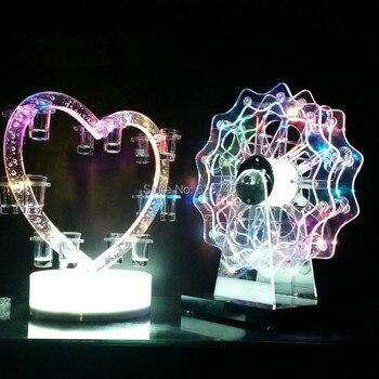 Bombillas Led Que Cambian De Color | Nuevo Recargable Con El Cambio De Color De Plástico En Forma De Corazón LED Vino Vaso De Shot LED Estante Del Vino Para Pub Bar Fiesta Bar