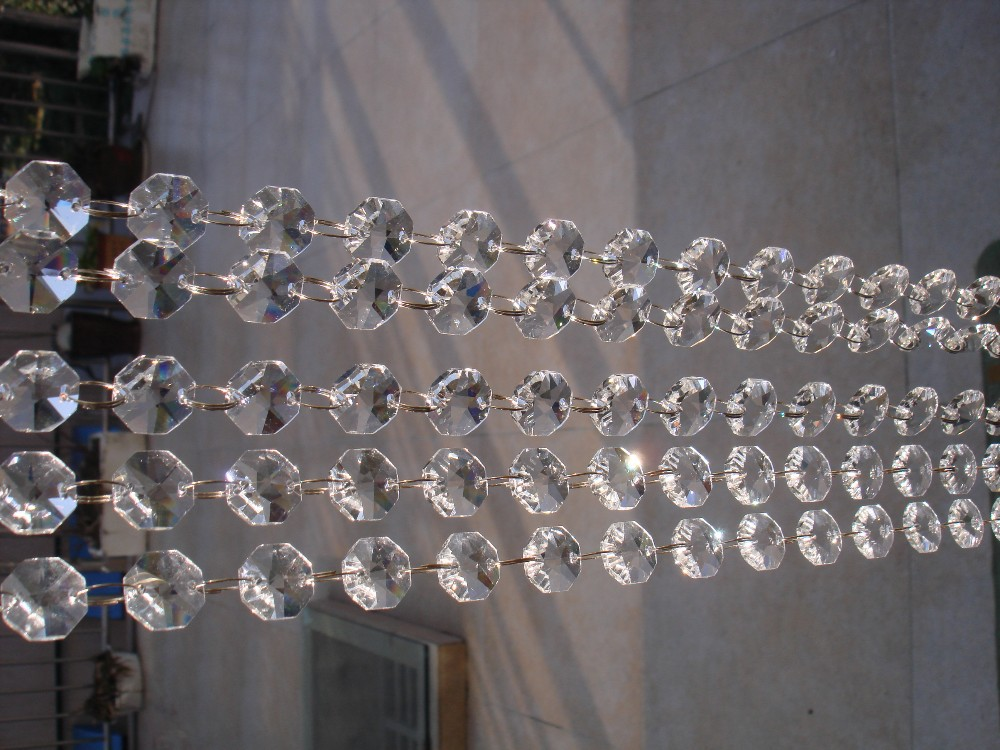 Wonderful 100ft crystal beads strand garland wedding party wonderful 100ft crystal beads strand garland wedding partychandelier trimming curtain lighting decorationoctagon beads diy in chandelier crystal from aloadofball Choice Image