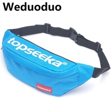 Weduoduo 2019 Unisex Canvas Waist Bag Women Men Belt Casual Fanny Pack for Travelling Phone Bags New Style Mini