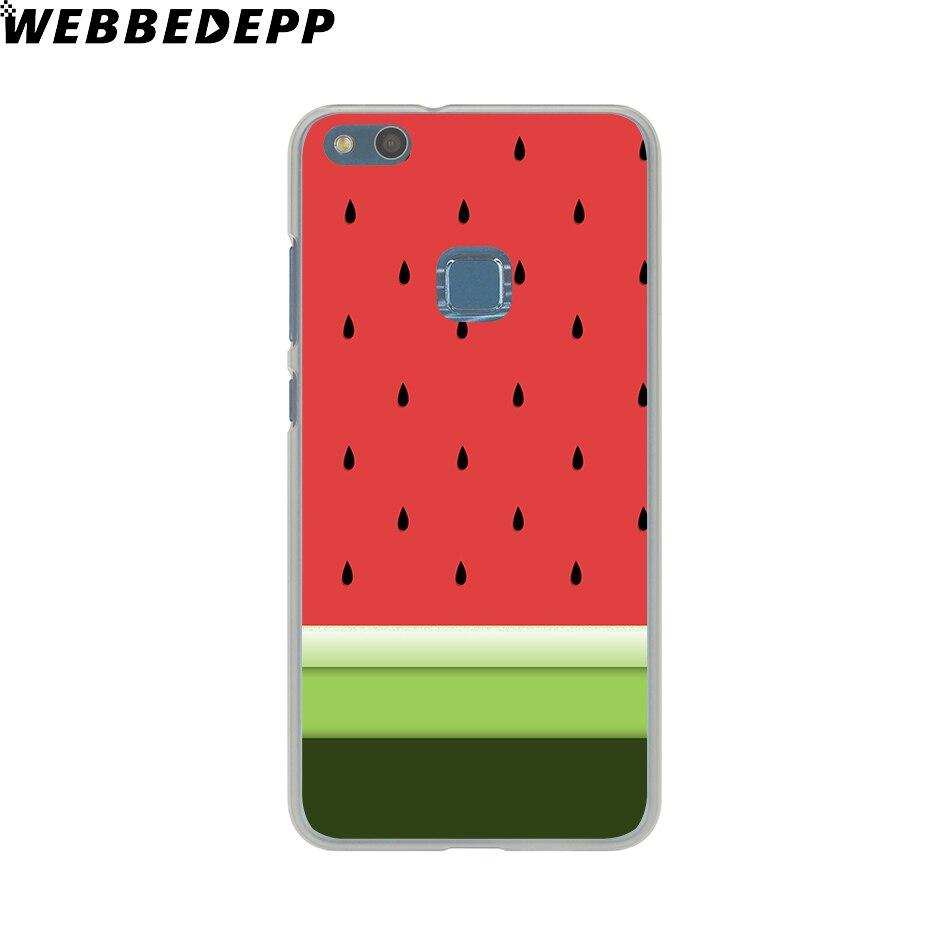 Webbedepp довольно Фрукты Арбуз Жесткий Чехол для Huawei P20 Pro Smart P10 P9 Lite 2016/2017 P8 Lite 2015 /2017