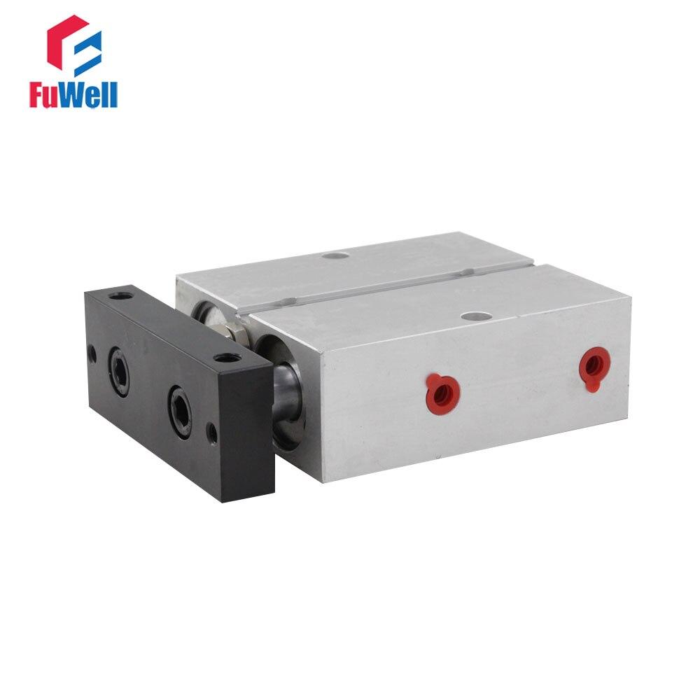 Cylindre pneumatique à Double effet à Double tige en alliage d'aluminium à alésage 5/10/15/20/25/30/35/40/50/60mm de Type TN 32mm