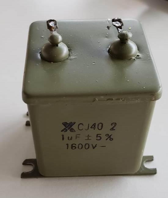 Metal Capacitor Steel Oil Capacitors CJ40-2 1600V 1UF