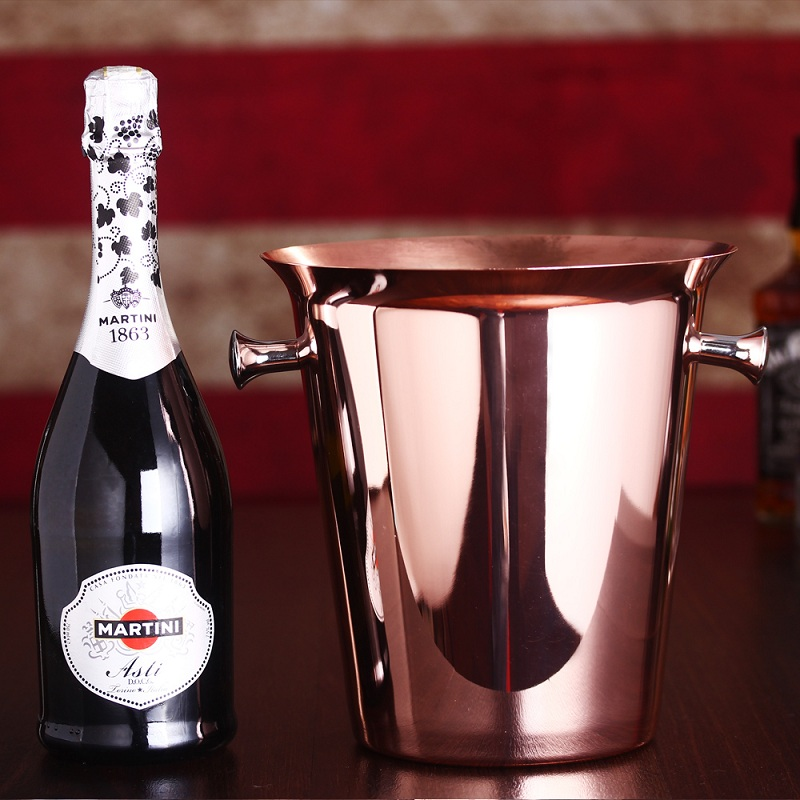 Doski 2016New Fashion 5L Large Ice Bucket Stainless Steel Beer Whisky Wine Cooler Ice Bucket Champagne Party Bar Home Tools