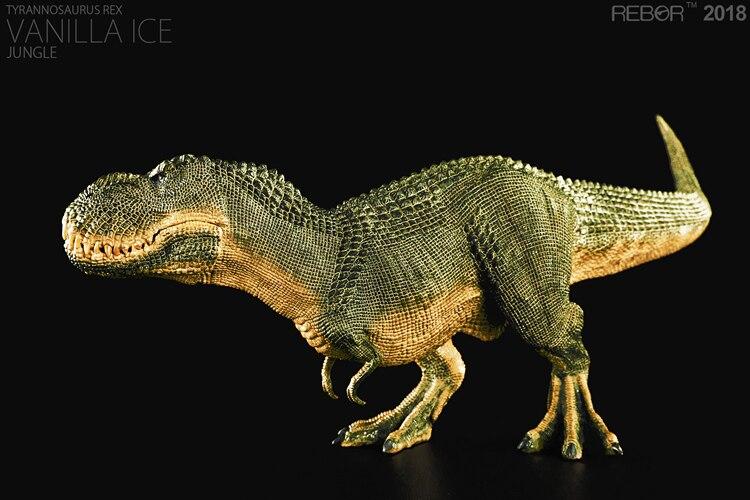 REBOR Tyrannosaurus Rex Vanilla Ice Jungle PVC 1 35 Dinosaur Museum Class Model