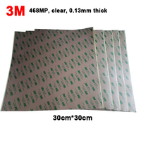 BIG Square Sheet! 30cm*30cm 3M 468 Double Sided Adhesive Sticker, High Temperature Resist for 3D Printer, Thermal Pads, Clear