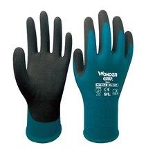 Wonder Grip Garden Safety Glove Certificated 2 Pairs  Nitrile Foam Dipped Gardening Work Gloves work glove 5 pairs nylon spandex with nitrile foam 3 4 dipped safety glove