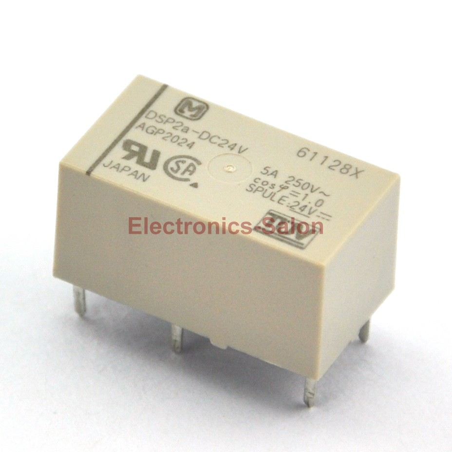 ( 2 Pcs/lot )  DSP2a-DC24V Small Polarized Power Relay, 2 Form A, DPST.