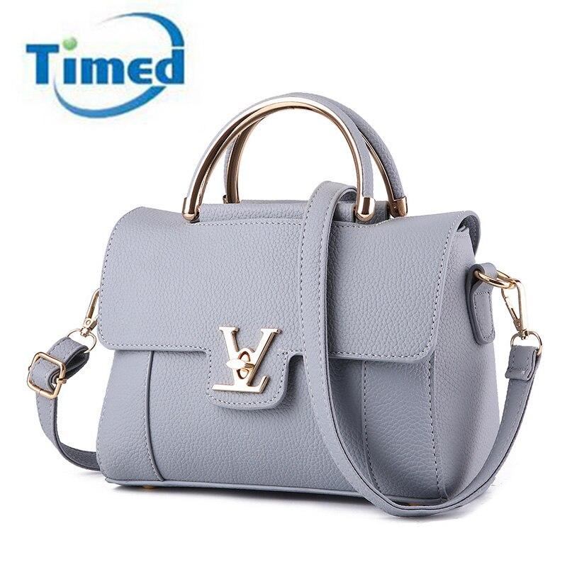 Europe Style 2017 New Women PU Leather Shoulder Bags Female Messenger Bag Zipper Fashion Handbags Elegant