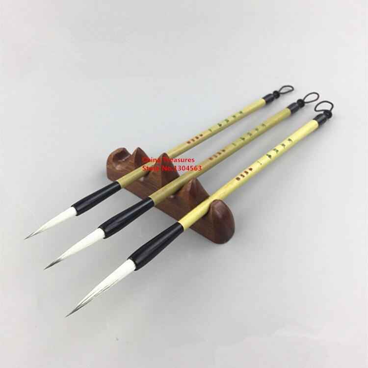 3pcs/lot,Chinese Painting Brush Liner Brush Slender Gold Calligraphy Writing
