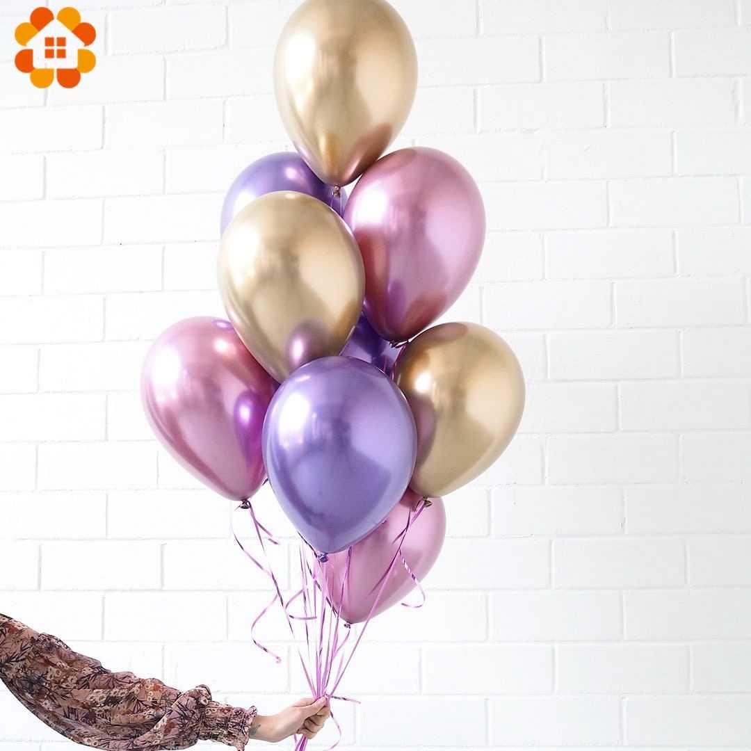 10 шт 12 дюймов металлические цвета латексные шары конфетти воздушные шары надувные шары для дня рождения свадьбы