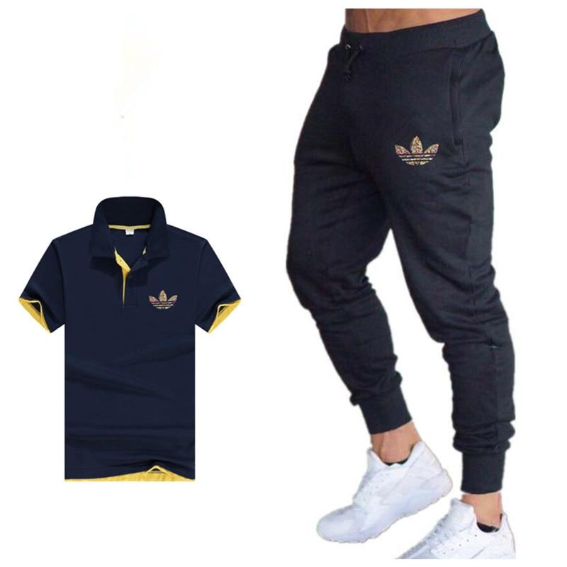 Klassische Mit Polo + Jogginghose Sets Mode Casual Polo Qualität Männer Sets Polo Hemd + Hose Marke Kleidung Zwei Stück Anzug Trainingsanzug Kataloge Werden Auf Anfrage Verschickt
