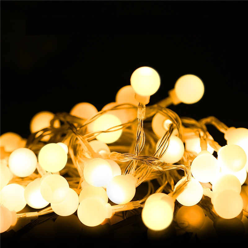 ECLH Fairy Lights Waterproof LED Ball Fairy String 3M 5M 10M USB LED String Light Christmas Wedding Decoration Outdoor Lighting