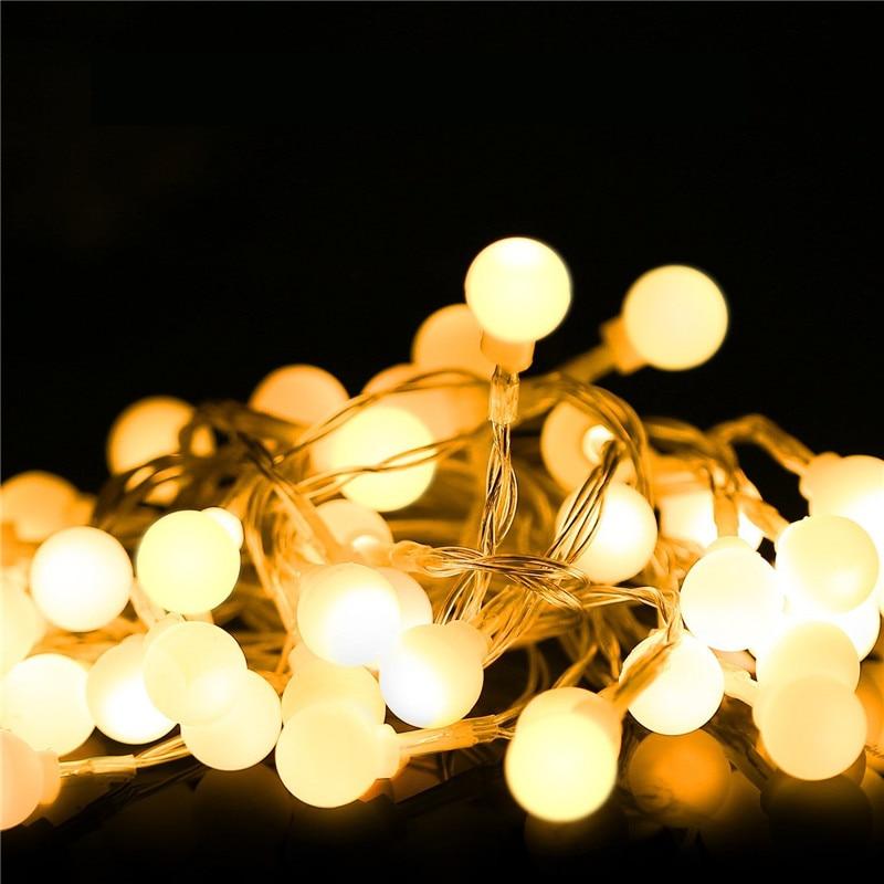 ECLH Fairy Lights Waterproof LED Ball Fairy String 3M 5M 10M USB LED String Light Christmas Wedding Decoration Outdoor Lighting