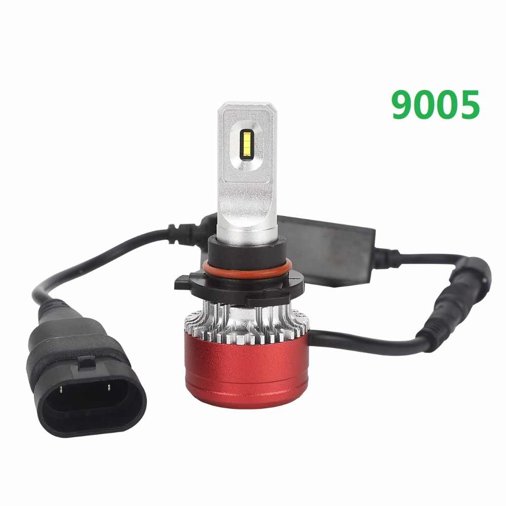 PAMPSEE DDR8 H4 H7 LED Car Headlight 12V 9005 9006 Fog Light Led far 80W Auto Bulb Headlamp 6000K Light High Low Beam car Bulb