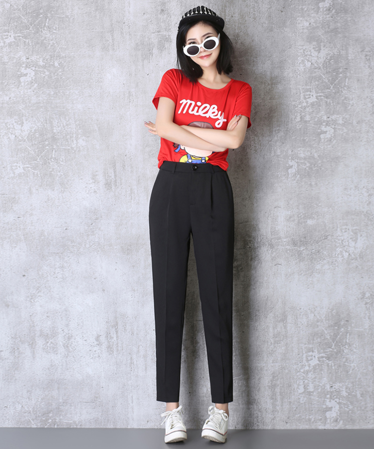 Hot Sale Harem Pants Women 19 Summer Autumn Pants Casual OL Pants Elastic High Waist Slim Work Pants Plus Size 3XL Trousers 8