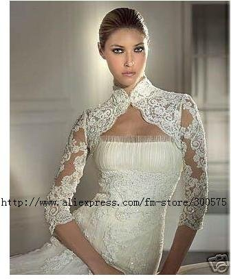 Custom Made Wedding Bridal Bolero Shrug Jacket 1 2 Long Lace