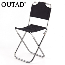 2015 Portable Folding Outdoor Fishing Camping Chair Aluminum Oxford Cloth Chair with Backrest Carry Bag Black free shipping