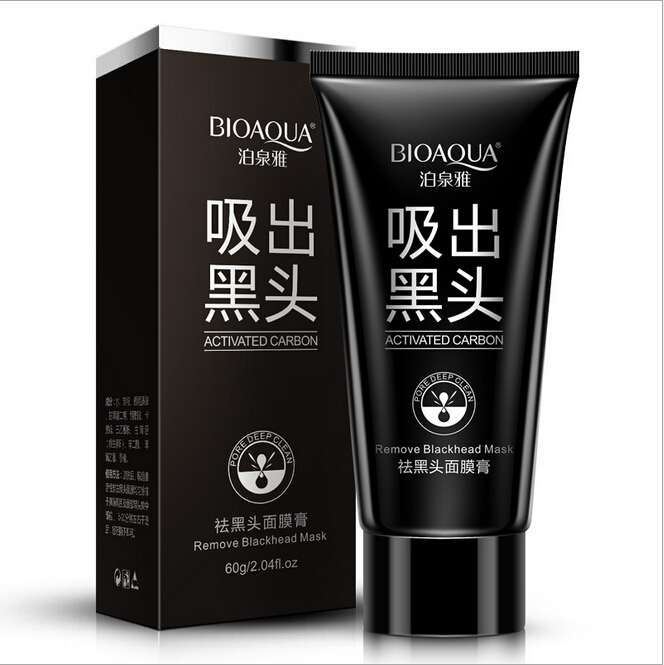10pcs/lot BIOAQUA black mask black head acne blackhead remover face mask deep cleasing beauty peel off mask removedor de cravo