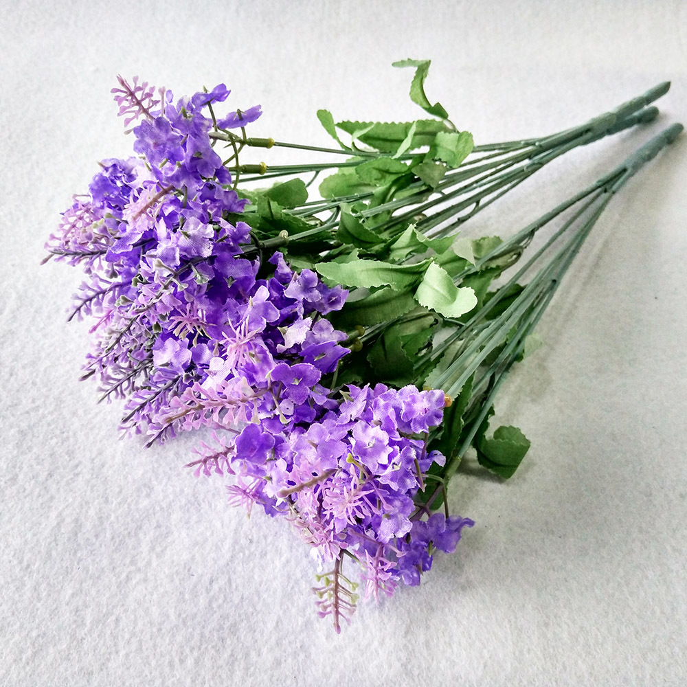 10 Bouquet Artificial Purple White Lavender Flowers Festival Party