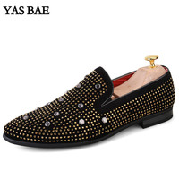 Yas Bae Casual Brand Rock Black Male Lightweight High Top Studded Hightop Footwear Street Style Tenis
