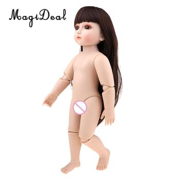 For 18 Inch American Girl Doll Toys for Children Birthday Gift Fashion Long Hair Nude Body Girl Doll Princess Doll girl