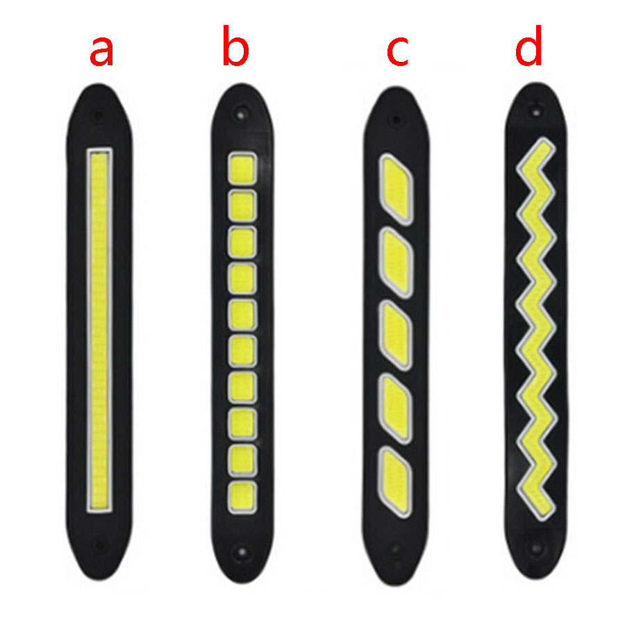 Car Styling 2pcs Daytime Running Light Waterproof COB Day Time Working Lights Flexible LED DRL Driving Lamp For Ford VW DC12V suprer bright 2pcs 30cm 12v daytime running lights waterproof car drl cob driving fog lamp flexible led strip car styling