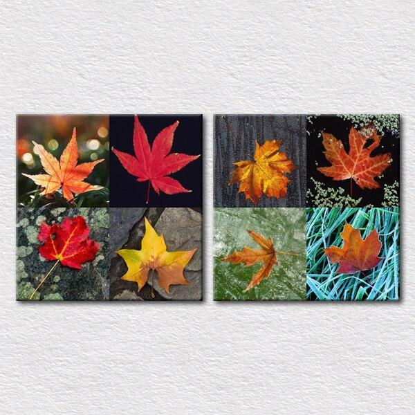 живопись осенние листья