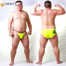 새로운 도착 곰 발톱 플러스 크기 남자의 그물 팬티 섹시한 반바지 게이 베어 통기성 속옷 네온 옐로우/라이트 블루/레드 m l xl xxl