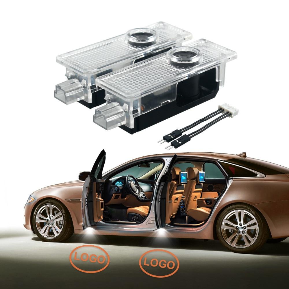 2Pcs LED Door Warning Light Logo Projector For BMW E60 E90 F10 F30 F15 E63 E64 E65 E86 E89 E85 E91 E92 E93 F02 M5 E61 F01 M M3 car styling for bmw m real carbon fiber handbrake cover fitting kit e87 e90 e92 e60 e63 e64 m5 m3 m tec