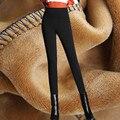 Осень Зима Высокой Талией Леггинсы Женщины Толстые Леггинсы Плюс Бархат брюки Леггинсы Плюс Размер 6XL Носить Теплые Длинные Брюки C2681