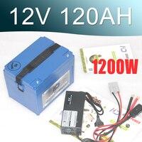 12 V litowo jonowy akumulator 120AH duża pojemność Super 12 v baterii Lipo
