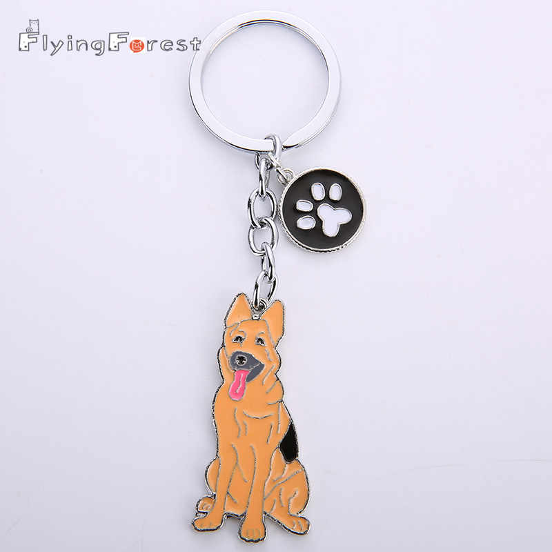 Keychain Cute Keychain Dogs Keychains German Shepherd Dog Key Ring Charms for Bags Animal Keyring for Women Gifts Boyfriend Gift