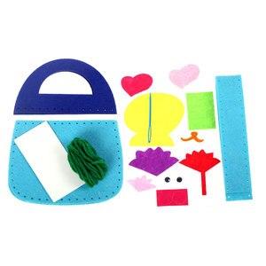 DIY حقيبة غير المنسوجة النسيج اليد حقيبة الكرتون ستيريو صنع عجينة الإبداعية الفن المواد في روضة الطفل طفل اليد صنع لعبة