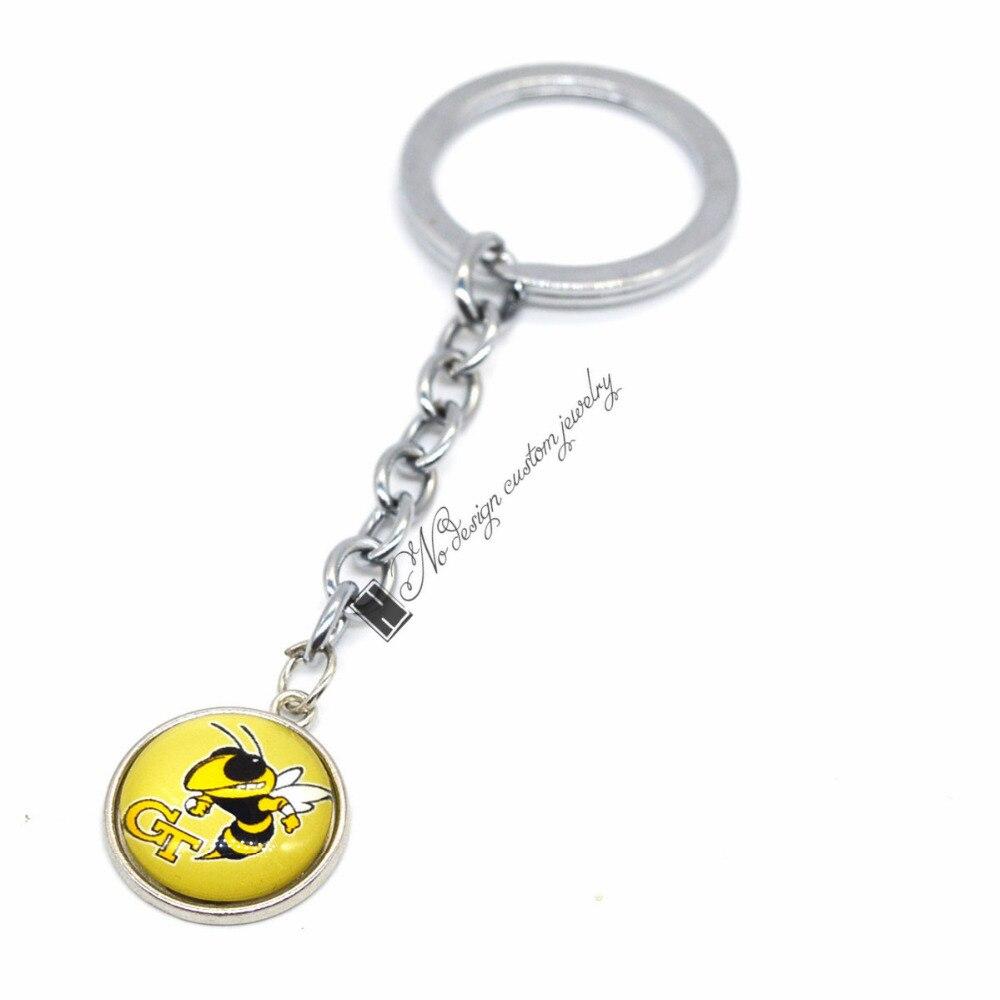 2018 New Basketball Keychain NCAA Georgia Tech Yellow Jackets Charm Key  Chain Car Keyring for Women Men Party Birthday Keyrings -in Key Chains from  Jewelry ... 0e705b44b7