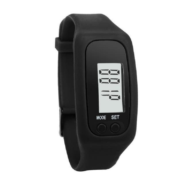Pedometer Sports Bracelet Watch Running Calories Silicone Ladies Watch LED Digit