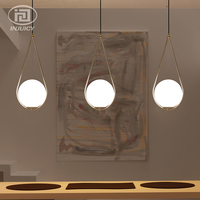 Nordic Simple Droplet Glass Pendent Lights Cafe Dining Room Lamp Bedroom Personality Creative Bedside Pendent Lamp