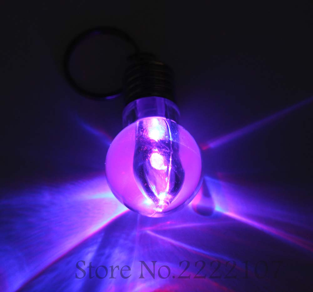 Nueva Creativo Brillante Luces de Flash LED Mini Bombilla Llavero ...